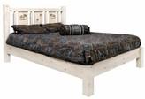 Tustin Laser Engraved Moose Design Platform Bed Loon Peak Size: Twin