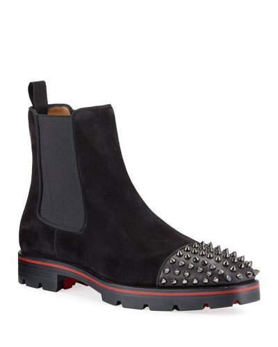 meet 4431a 9be5b Men's Melon Spikes Red Sole Chelsea Boots