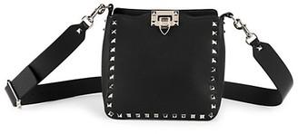 Valentino Mini Rockstud Leather Hobo Bag