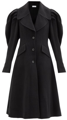 J.W.Anderson Puff-shoulder Single-breasted Wool Coat - Black