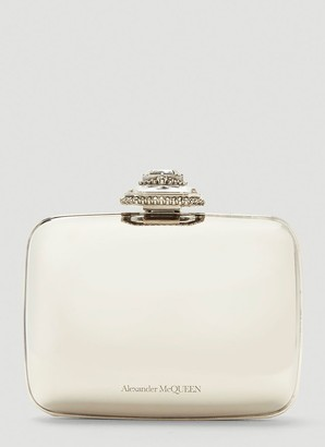 Alexander McQueen Mini Metallic Clutch Bag