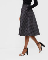 JOZEL Monochrome grid midi skirt