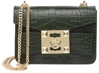 Persaman New York Avvery Croc-Embossed Crossbody Bag