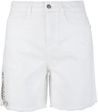 Ermanno Scervino White Denim Stretch Shorts