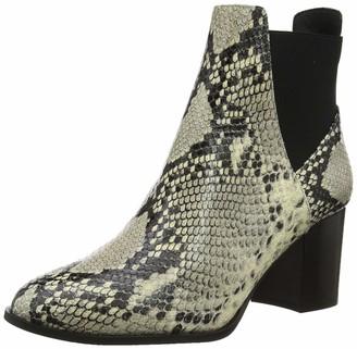 Karen Millen Women's Toni Mid Ankle Boots Grey Black Gry/Blk 3 (36 EU)