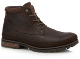 Caterpillar Chocolate Brown 'oatman' Lace-up Boots