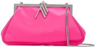 ATTICO Embellished Logo Clutch Bag
