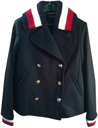 Tommy Hilfiger Navy Wool Coat for Women