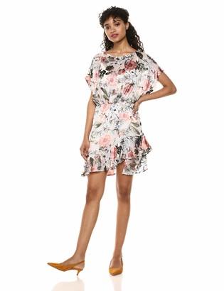 ASTR the Label Women's Tyler Sleeve Blouson Ruffle Short Floral Dress