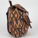 Ethnic Print Canvas Backpack