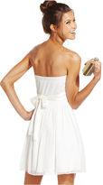 Speechless Juniors Dress, Strapless Rosette A-Line
