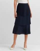 Club Monaco Pleated Tier Skirt