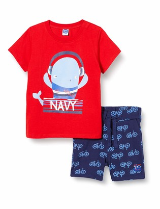 Tuc Tuc RED Printed Jersey T-Shirt and Bermudas Set for BOY SEA Riders