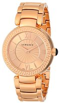 Versace Women's VNC060014 Leda Analog Display Swiss Quartz Gold Watch