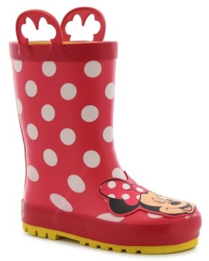 Western Chief Little Kid's and Big Kid's Minnie Mouse Rain Boot
