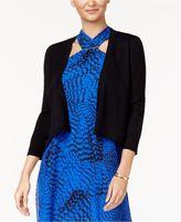 Thalia Sodi Chiffon-Back Open-Front Cardigan, Created for Macy's