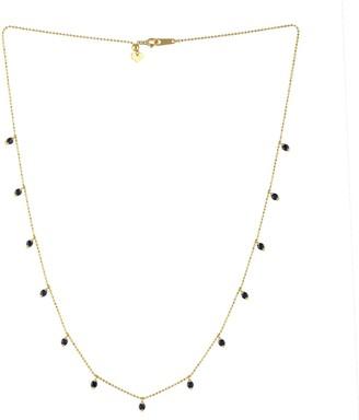 Artisan 18Kt Yellow Gold Choker Necklace Blue Sapphire