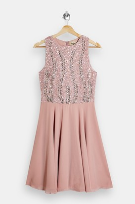 Lace & Beads Pink Embellished Dress