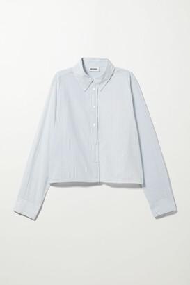 Weekday Gwen Poplin Shirt - Blue
