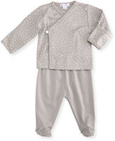 Kissy Kissy Starry Night Printed Footed Pajama Set, Size Newborn-6 Months