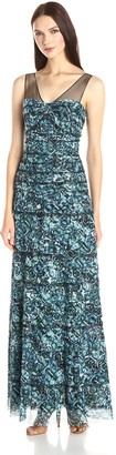 BCBGMAXAZRIA Azria Women's Erika Maxi Dress with Kaleidoscopic Jewel Print