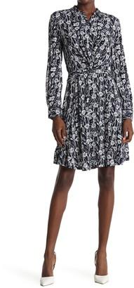 Tommy Hilfiger Floral Twist Front Shirt Dress