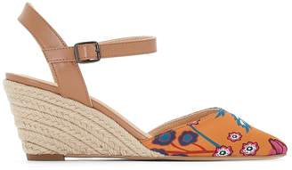 La Redoute Collections Floral Print Rope Wedge Espadrilles