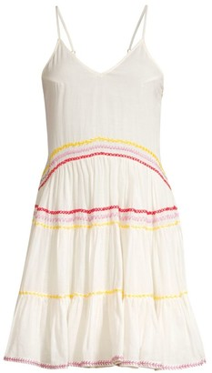 Carolina K. Marieta Multicolor Exposed Seam Mini Dress