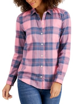 Style&Co. Style & Co Petite Cotton Flannel Shirt, Created for Macy's