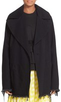 Marques Almeida Women's Marques'Almeida Big Lapel Denim Coat