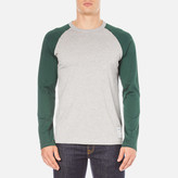 Carhartt Long Sleeve Dodgers Tshirt - Grey Heather/conifer