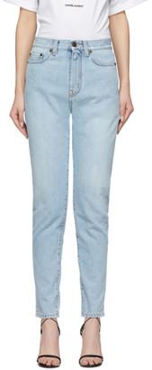 Saint Laurent Blue Denim Carrot Jeans