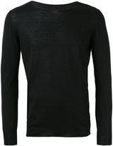 Roberto Collina boat neck longsleeved T-shirt - men - Cotton - 48