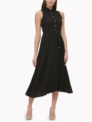 Tommy Hilfiger Essential Sleeveless Pleated Shirt Dress