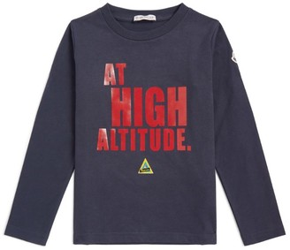 Moncler Kids Long-Sleeved Graphic Printed T-Shirt