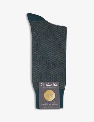 Pantherella Abdale Argyle wool-blend socks