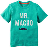 Carter's Short-Sleeve Turquoise Macho Slogan Knit Tee - Boys 4-8