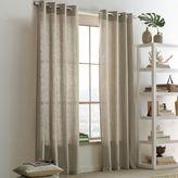 west elm Linen Cotton Grommet Curtain - Flax