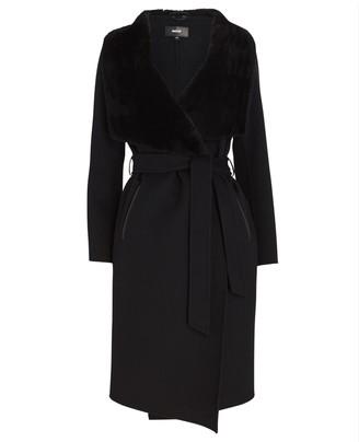 Mackage Sybil Shearling-Trimmed Wrap Coat