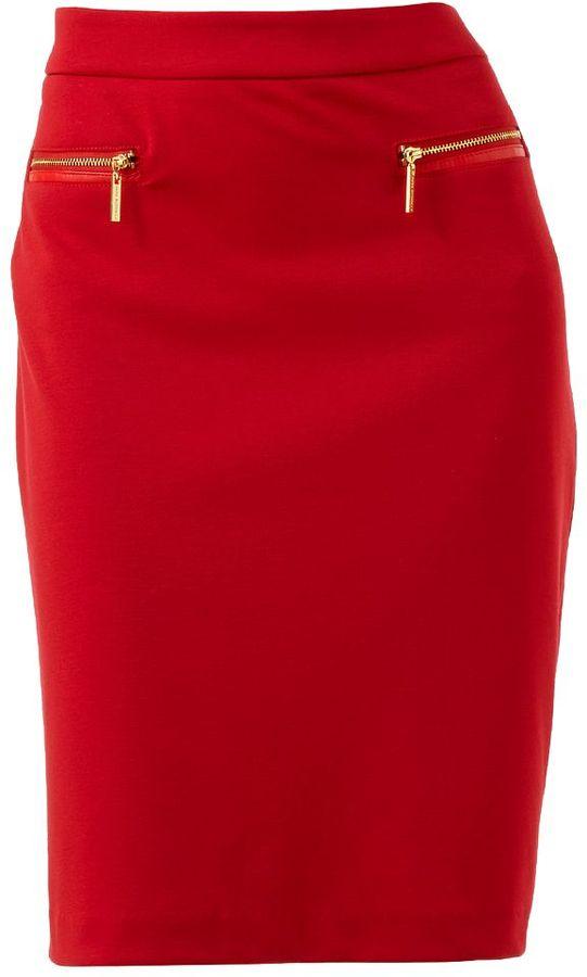 Dana Buchman embellished ponte pencil skirt