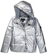 Bernardo Metallic Down Puffer Jacket (Big Girls)