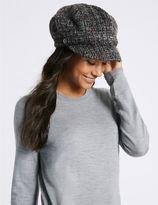Marks and Spencer Brushed Tweed Winter Hat