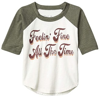 Chaser Feeling Fine Vintage Jersey Baseball Tee (Toddler/Little Kids) (Salt/Safari) Boy's Clothing