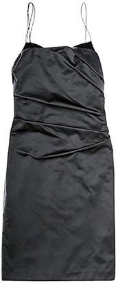Helmut Lang Satin Mini Sheath Dress