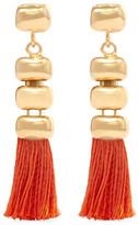 Rosantica Atena Tasseled Gold-tone Earrings - Orange