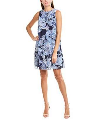 Jessica Howard Women's Sleeveless Paisley Trapeze Dress
