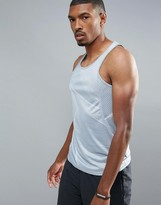 New Look Sport Singlet With Grey Linear Print