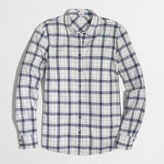 J.Crew Factory Petite classic button-down shirt in flannel in perfect fit