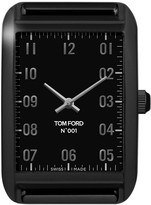 Tom Ford Timepieces Matte Stainless Steel with Black DLC Case, Matte Black Velvet Dial, Medium