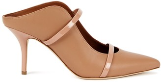 Malone Souliers Maureen 70 dusky rose leather mules